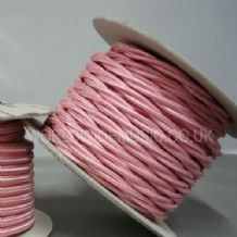 TWIST 2 Core Braided Fabric Cable Lighting Lamp Flex Vintage - BABY PINK